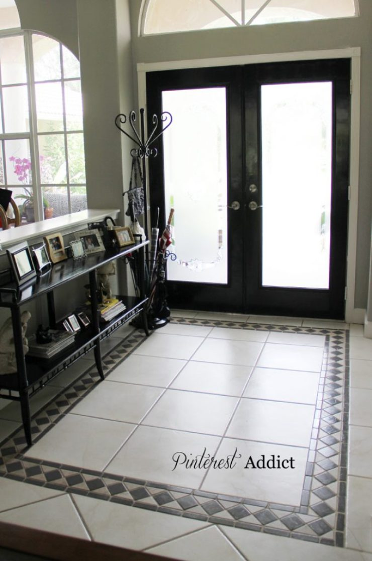 Painting Floor tile - Gauntlet Grey tiles