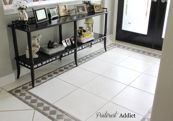 Painting Floor tile - No need for a rug