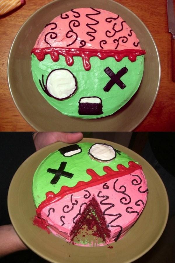 Zombie Cake @http://imgur.com/neyzX