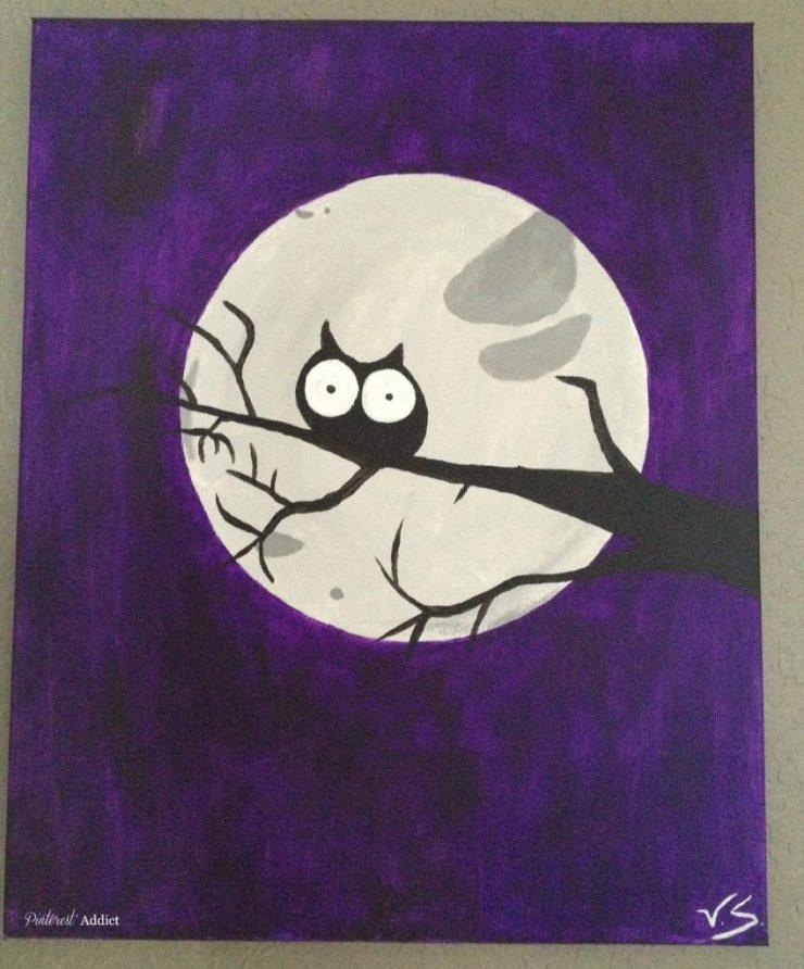 DIY Art - Owl in a tree - by Tori