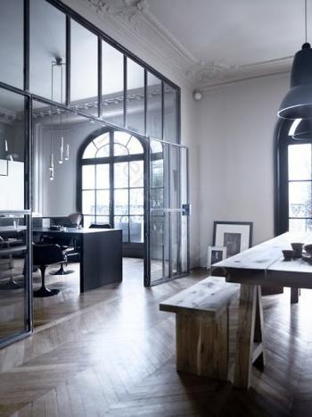 black rounded window frames