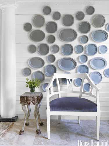 Silver Platter Plate Wall via House Beautiful
