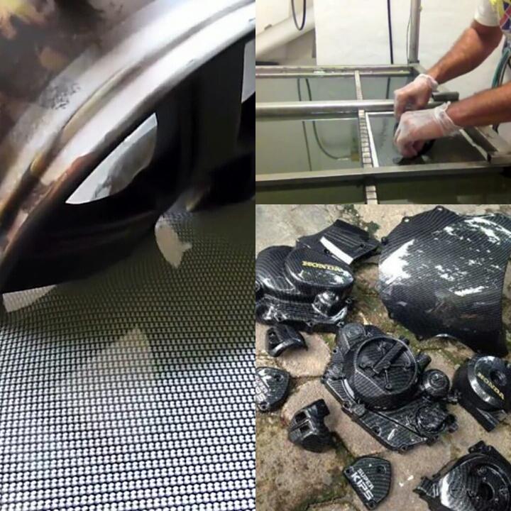 Mau Tampilan ala carbon fiber tinggal celup di air ,motif apapun bisa dengan cara ini.