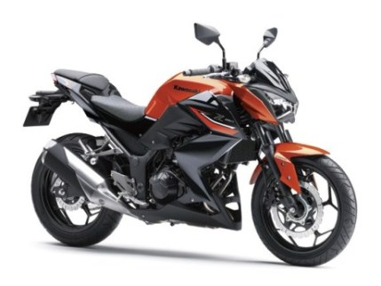 Kawasaki Z250 Candy Burnt Orange / Metallic Spark Black