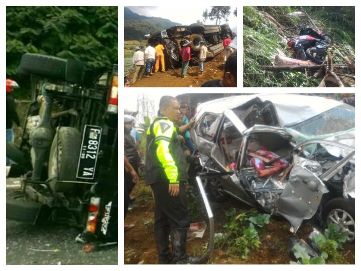 Kecelakaan Di jalur puncak Ciloto bogor ,11 Orang Meninggal Berikut Identitas nya.