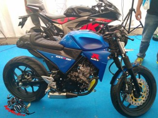Modifikasi GSX R150 Cafe Racer Minimalis (1)