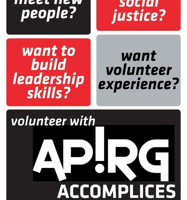 APIRG Accomplices Launch!