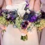 Purple And White Calla Lily Bouquets