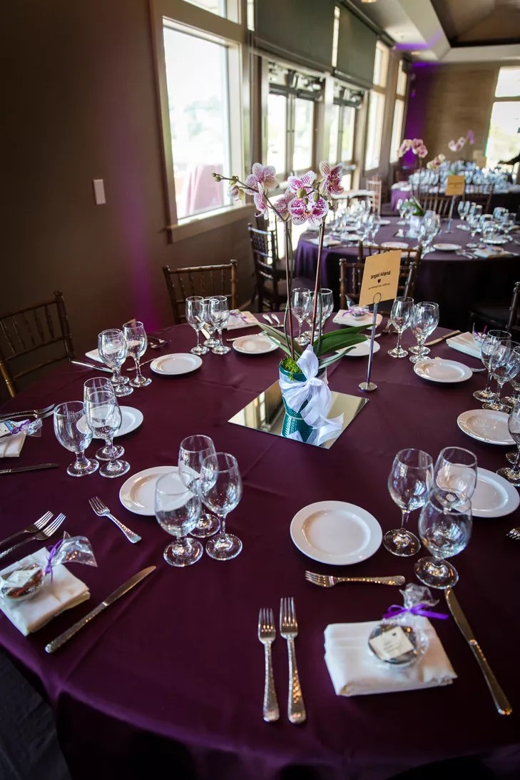Plum Tablecloth Linens And Dinnerware