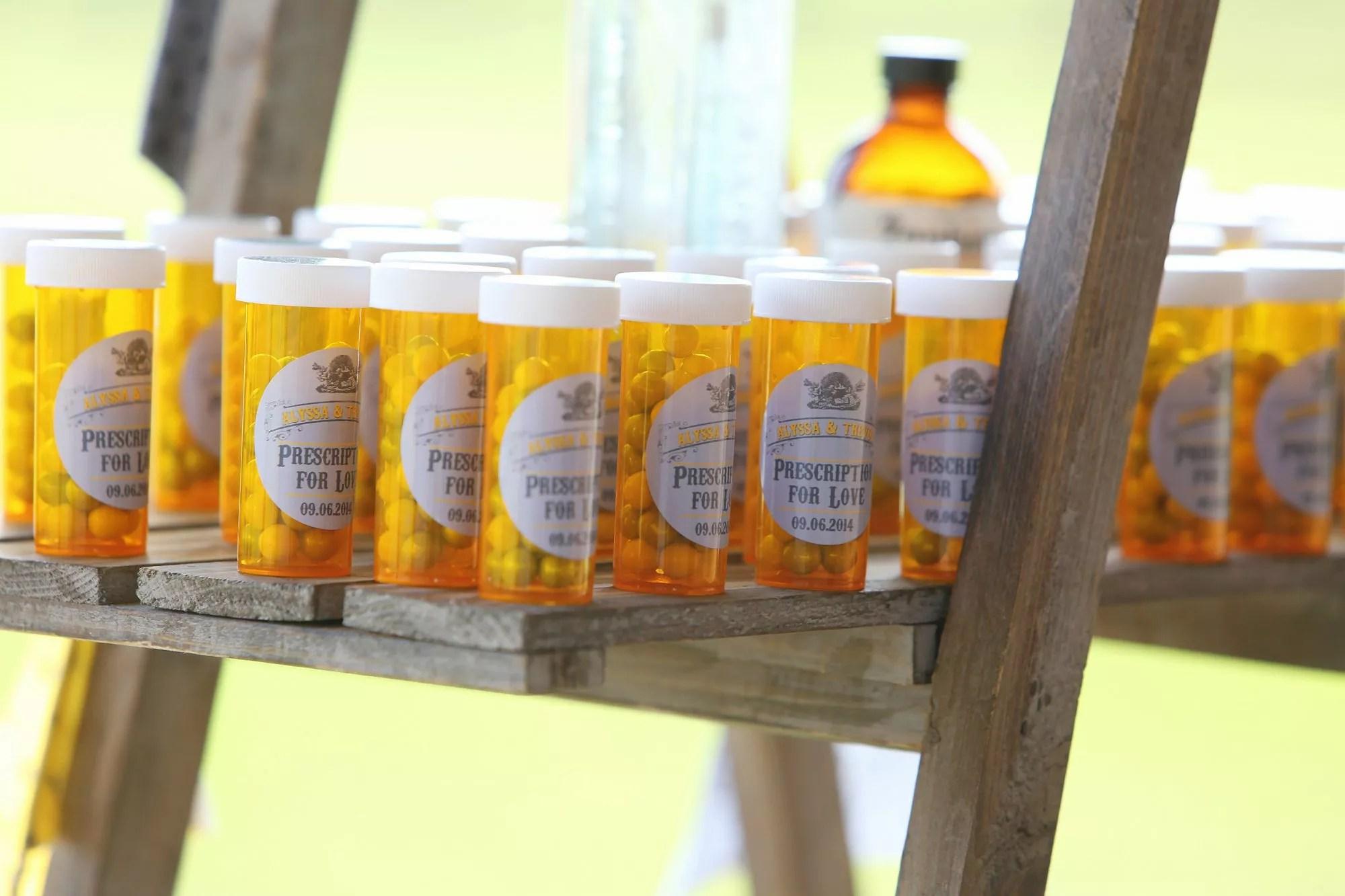 Pharmacy Inspired Prescription Bottle Favors