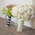 White Ranunculus And Hydrangea Bouquet