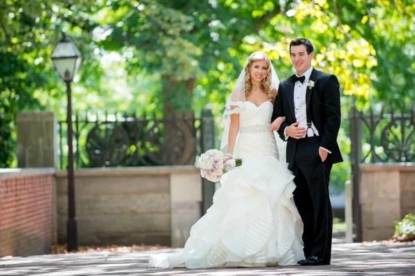Elegant Black-and-White Wedding Party