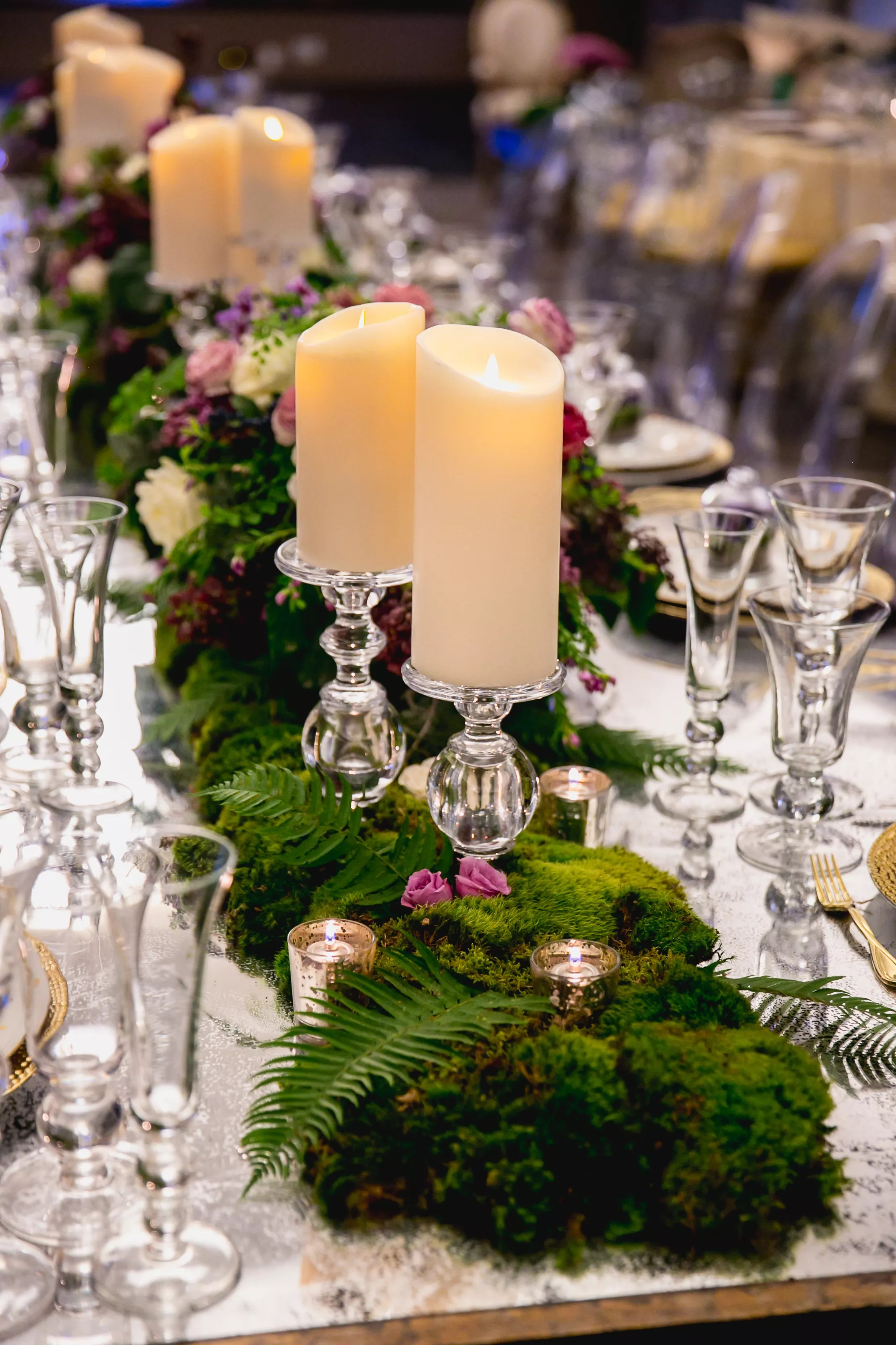Fern And Moss Dining Table Garland