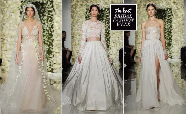 Reem Acra Featured Sheer Crop Top Wedding Dresses And Full