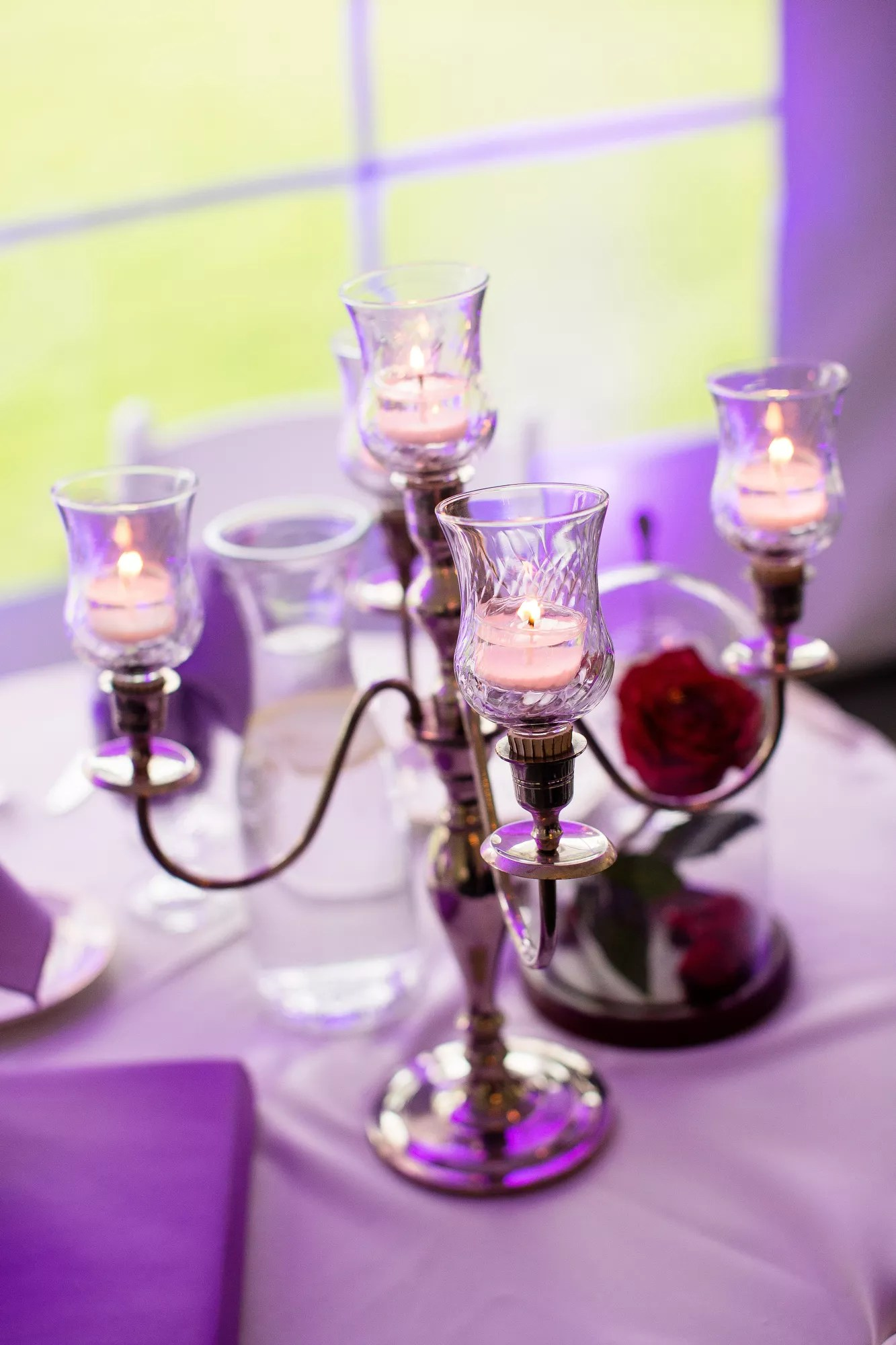 Beauty And The Beast Inspired Candelabras And Glass Domed