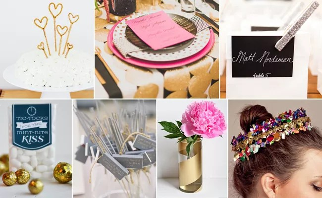 7 Genius DIY Projects For A New Year's Eve Wedding (Or Any
