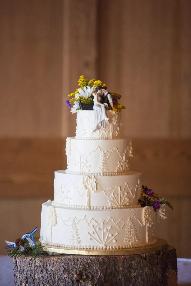 Ornate Mountain Inspired Buttercream Wedding Cake