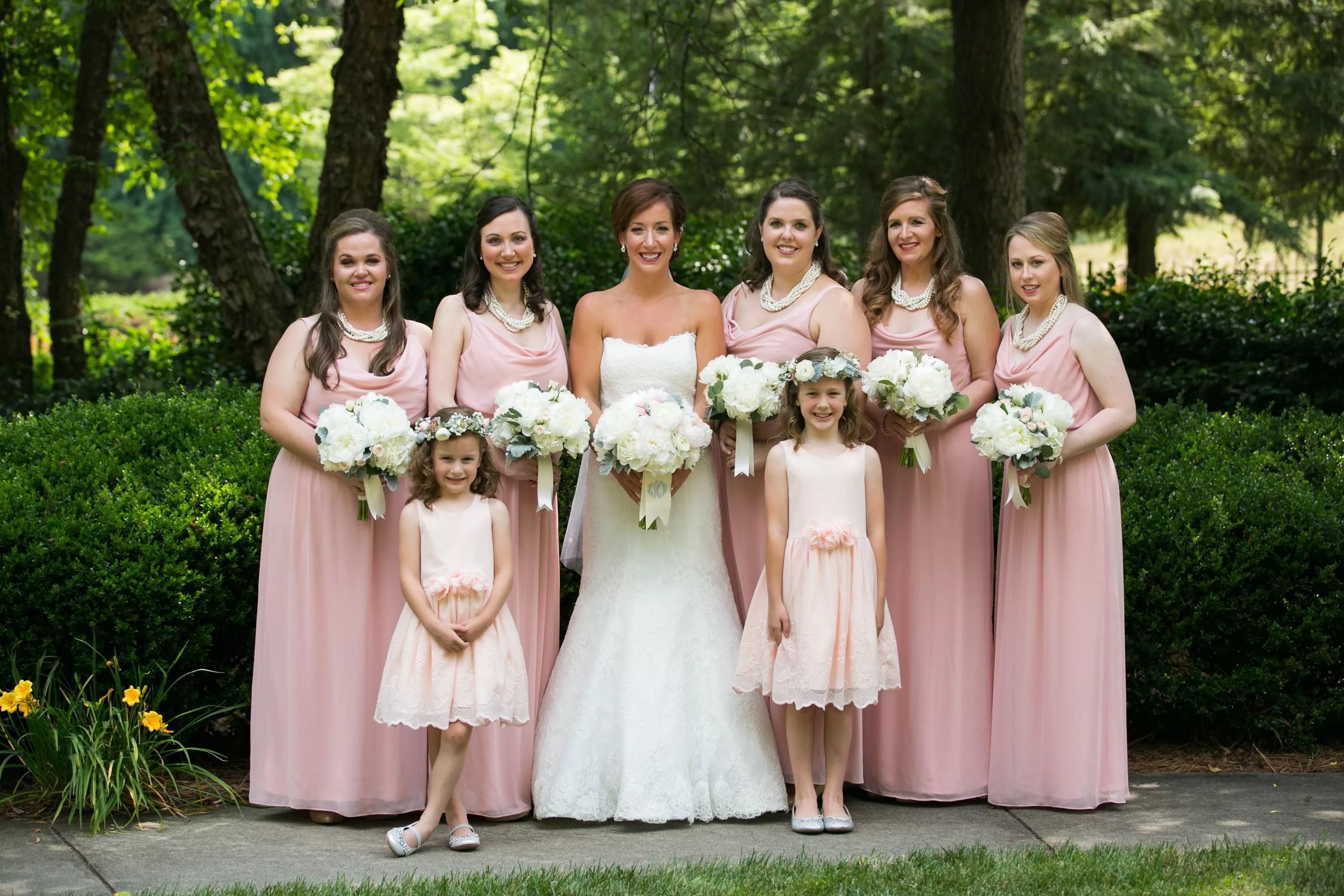 Dessy Cowl Neck Bridesmaid Dresses
