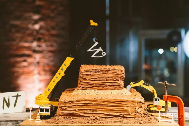 Construction Site Inspired Grooms Cake