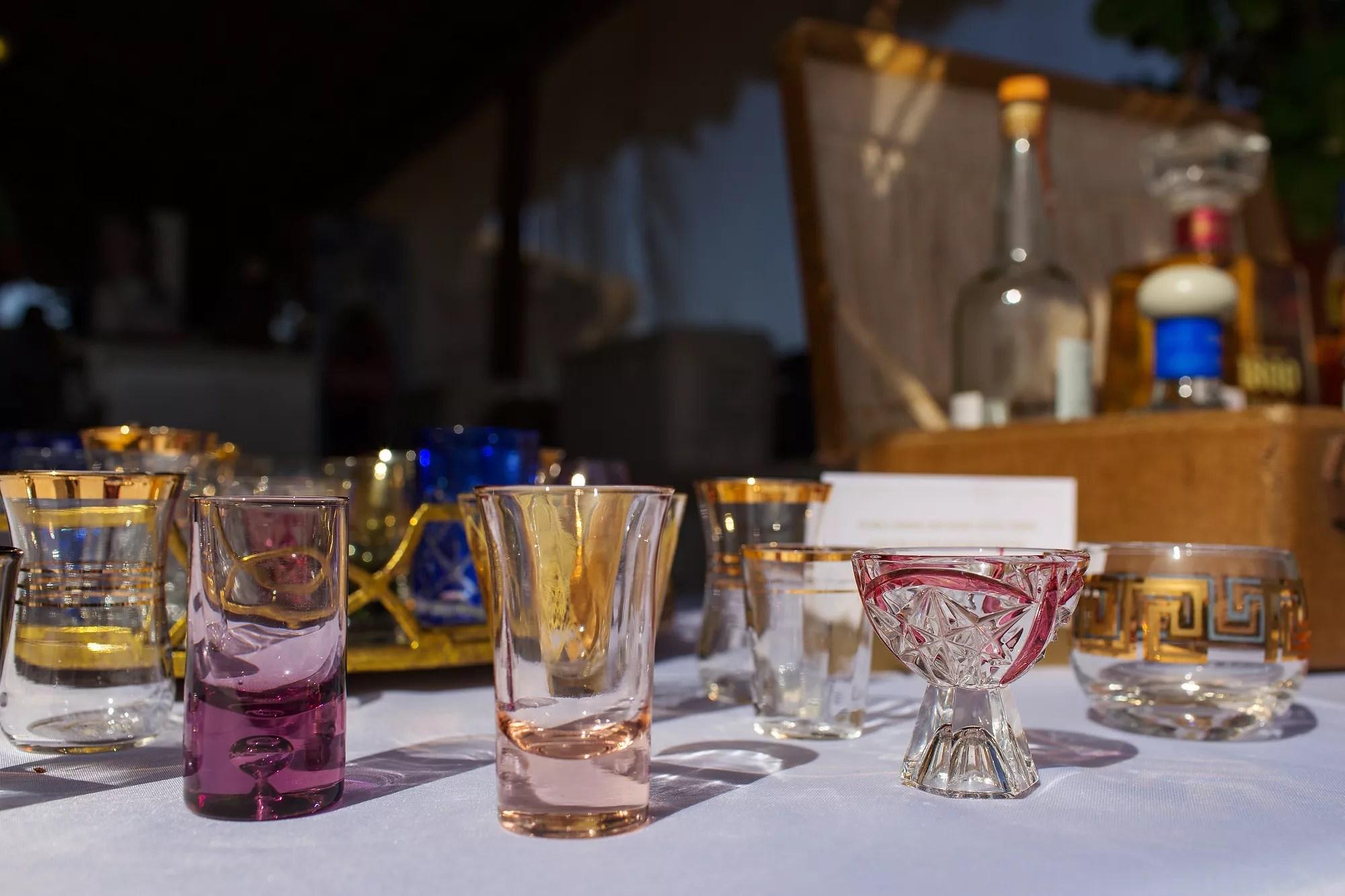 Vintage Shot Glass Wedding Favors