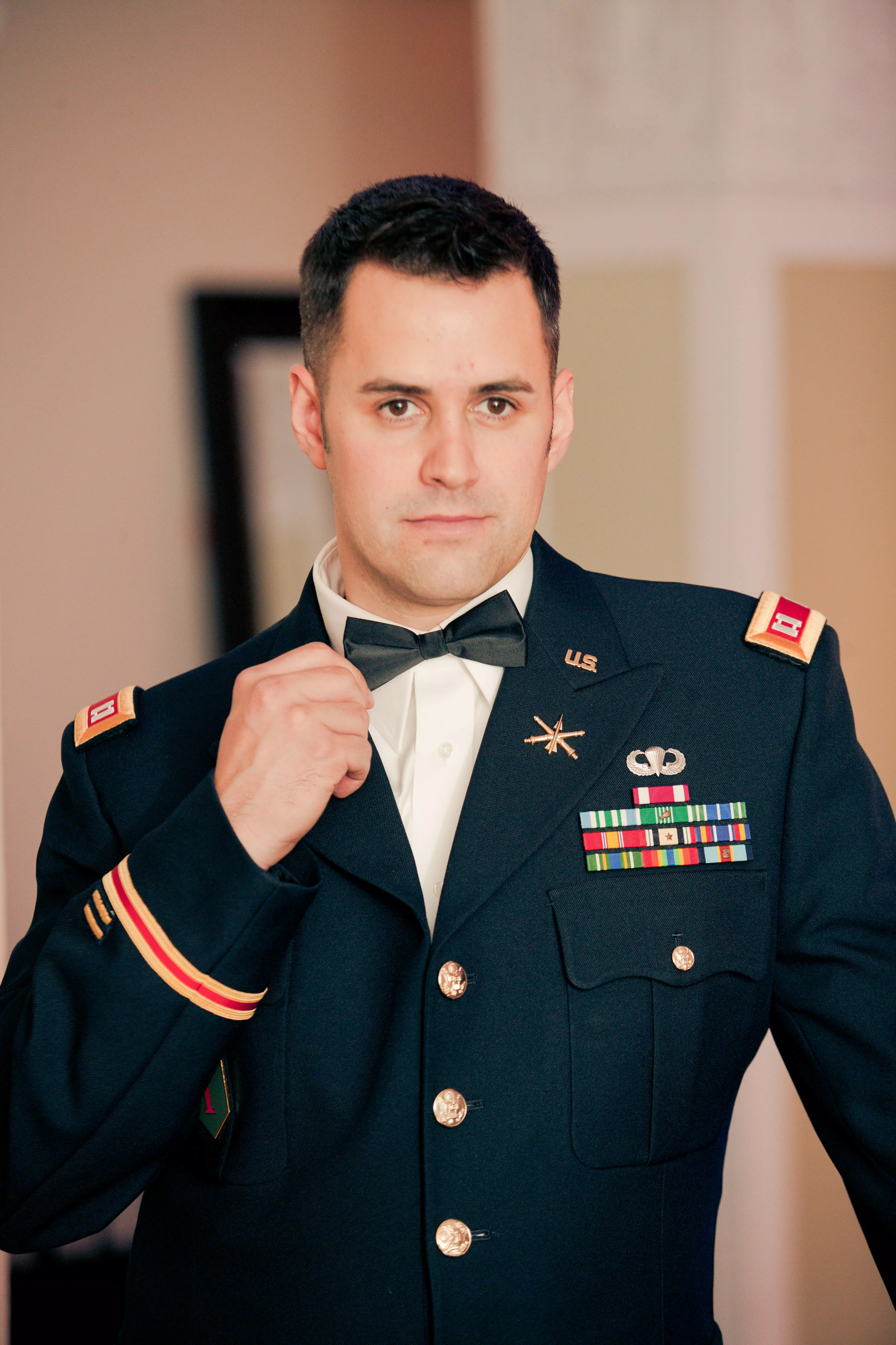 Military Uniform With Bow Tie