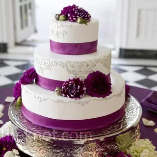Wedding Cakes   Wedding Cake Pictures     Purple Wedding Cakes