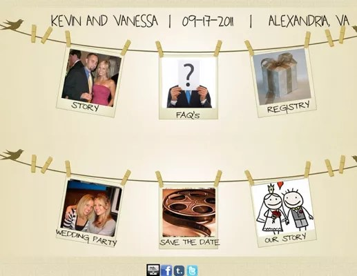 Most Creative Wedding Websites