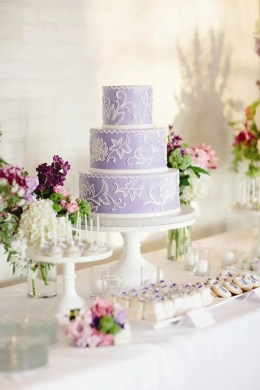 Purple Wedding Cakes Lavender and White Wedding Cake