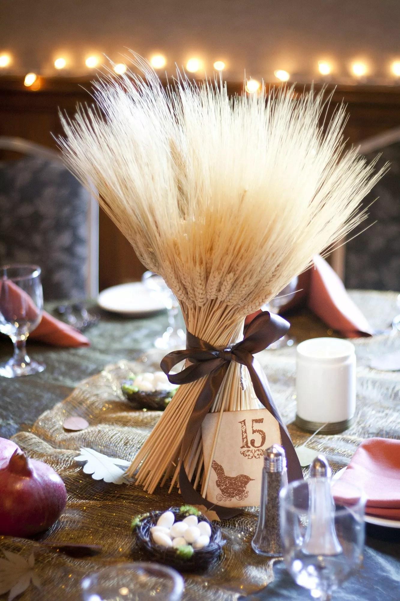 Wheat Stalk Centerpiece