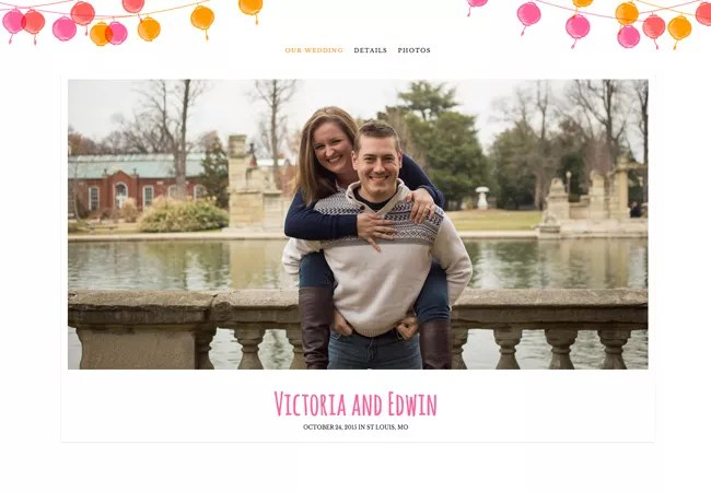 Read the  How We Met  Stories Couples Shared On Their Wedding Website victoria edwin wedding website
