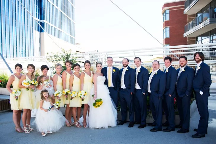A Classic Yellow And Navy Wedding At Denver Museum Of