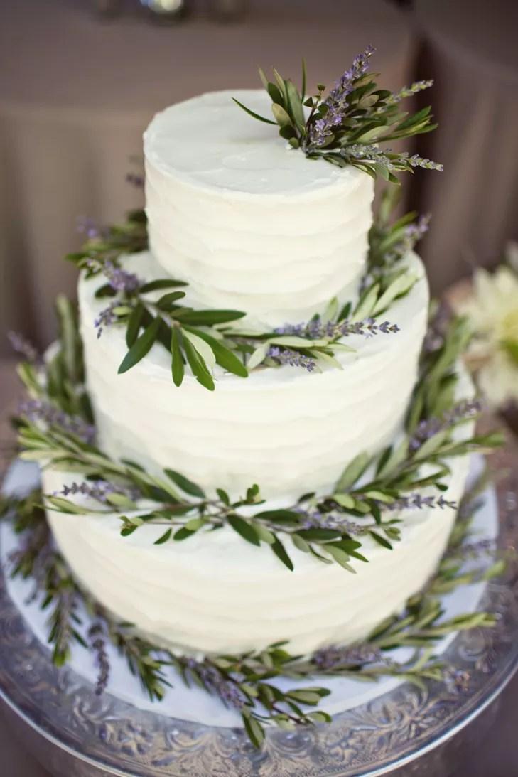 Fresh Lavender Adorned Cake