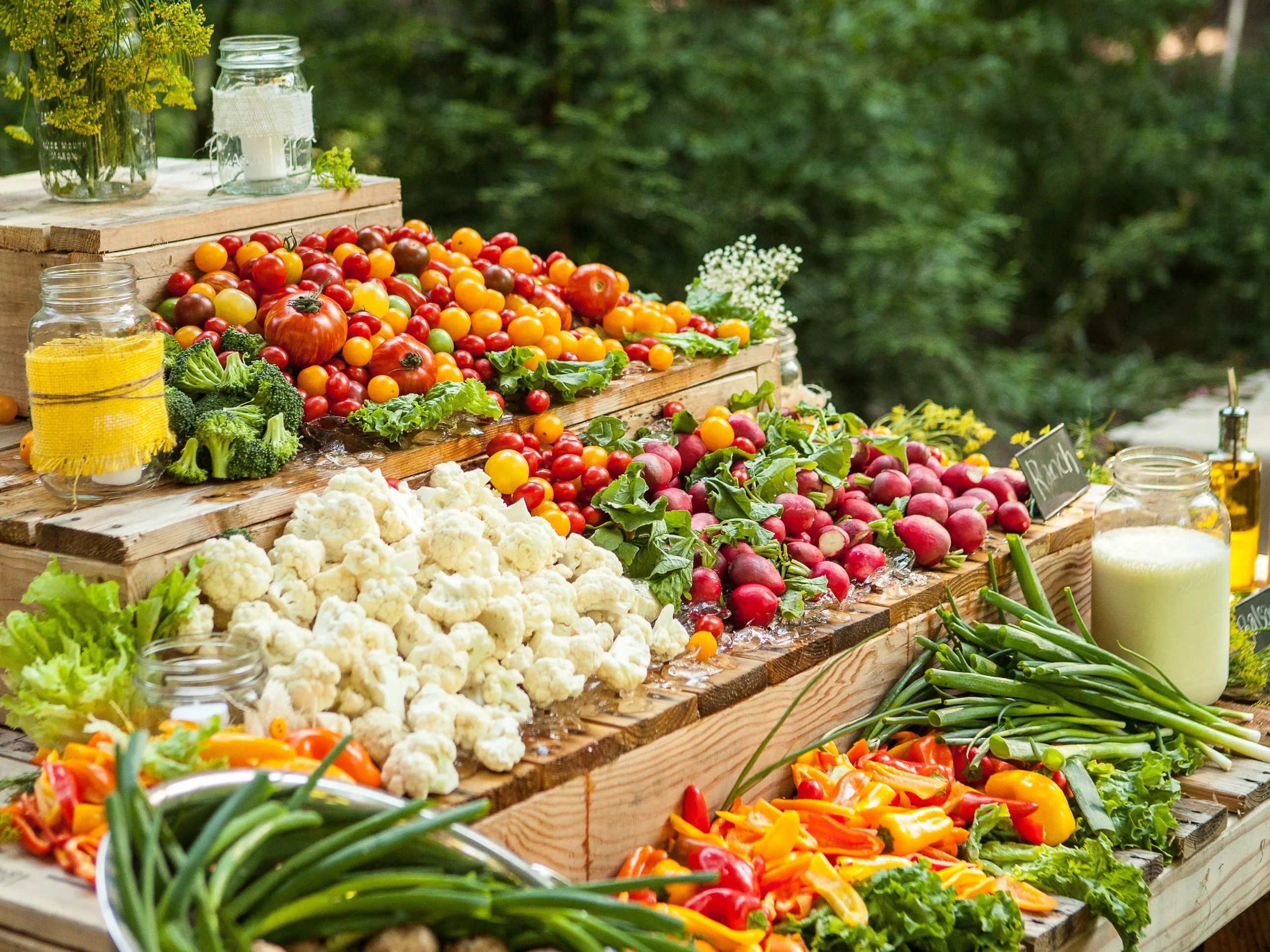 Crudite Is Not The Only Way To Serve Veggies At Your Wedding