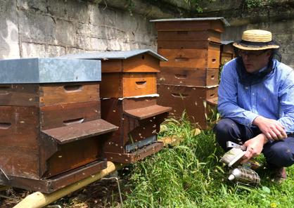 Audric de Campeau  : apiculteur à Paris en France.
