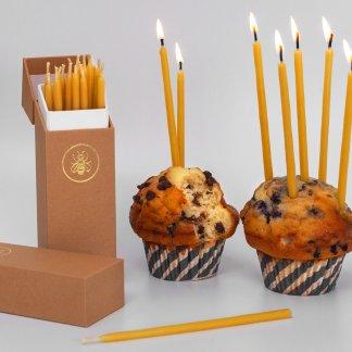 Bougies anniversaire en cire d'abeille - Félicité - Apis Cera