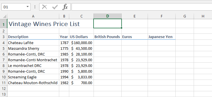 Name a cell with an excel Range name