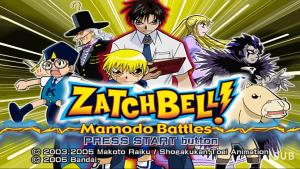 Zatch Bell PS2 ISO Mamodo Battles