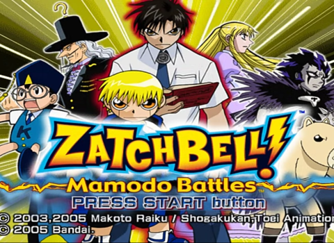 Zatch Bell PS2 ISO Mamodo Battles