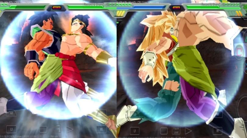 Legendary Super Saiyan Fusion Broly and Broly, Kanna and Broly