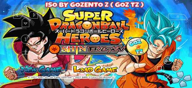 Super Dragon Ball Super Heroes Shin Budokai 2 Mod PSP ISO Download