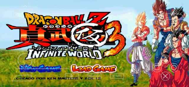 Dragon Ball Z Infinite World PSP ISO Download