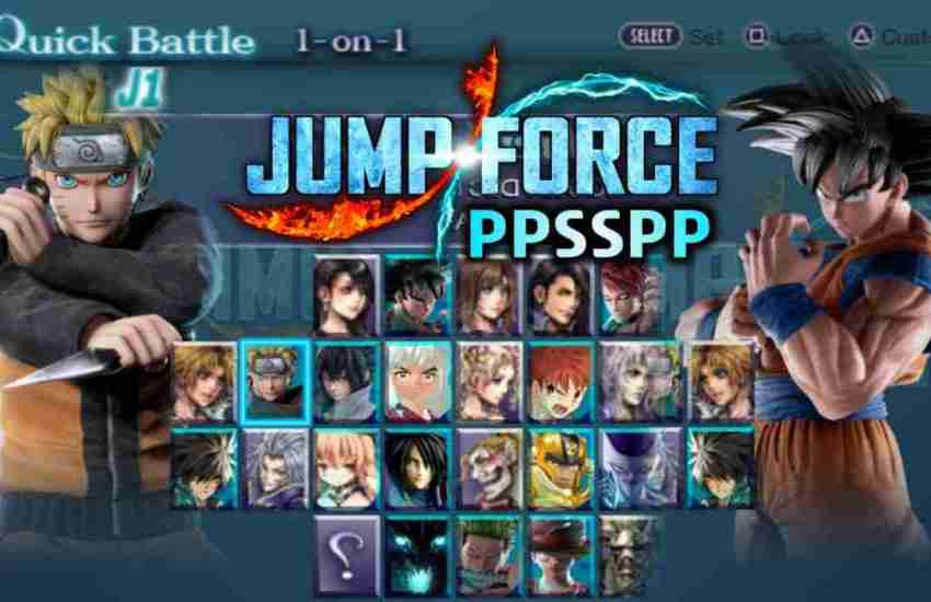 Jump Force PPSSPP ISO Download