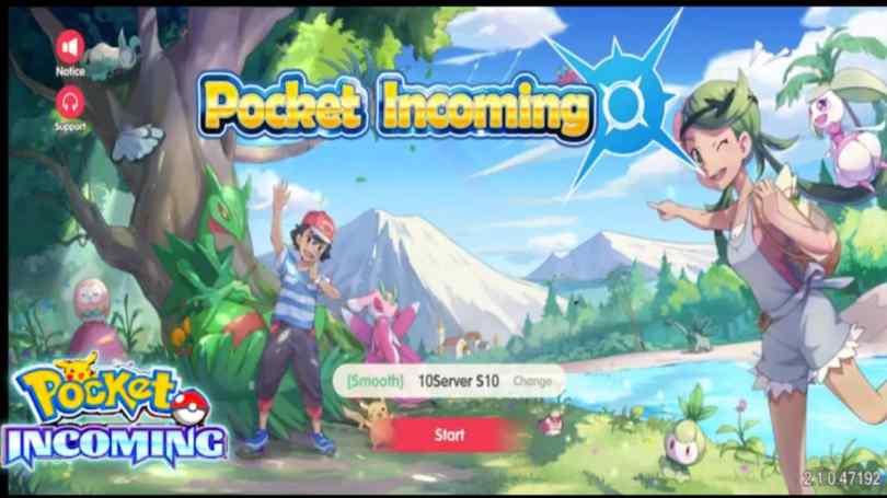 Pocket Incoming Pokemon Game