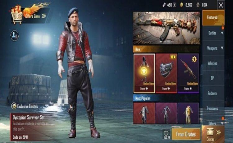 Screenshot of Dystopian Survivor Emote