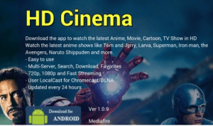 HD Cinema v1.1. Build 15 Ad-Free [Latest]