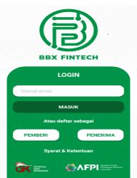 Screenshot of BBX FinTech App