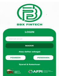 Screenshot of BBX FinTech App