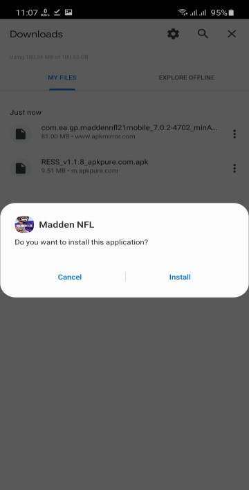 Screenshot of Madden Mobile nfl21 Apk