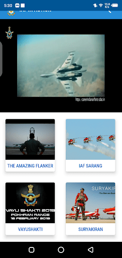Screenshot of My IAF App