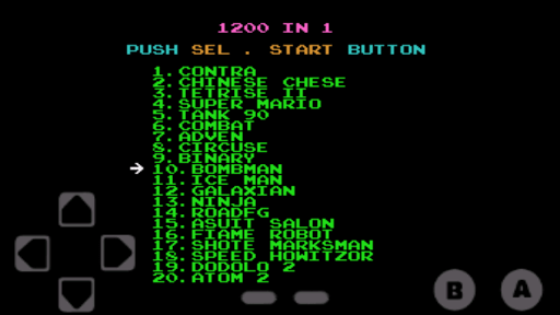 Screenshot of Nes 1200 Games in 1 Apk